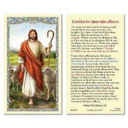 Christ the Good Shepherd Laminated Holy Card - 25/pk