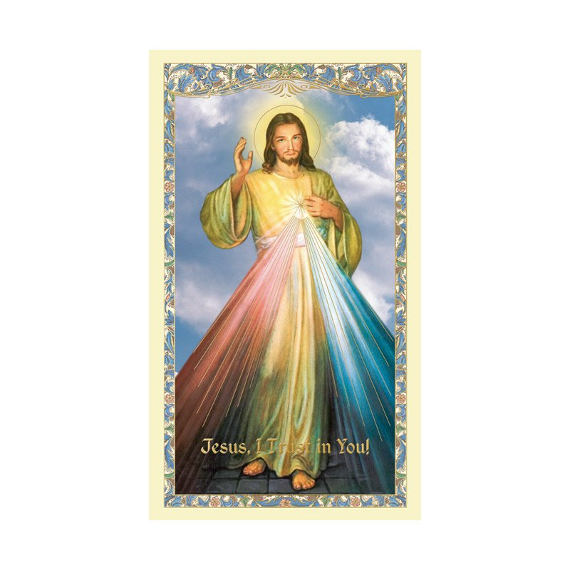 Divine Mercy Laminated Holy Card - 25/pk