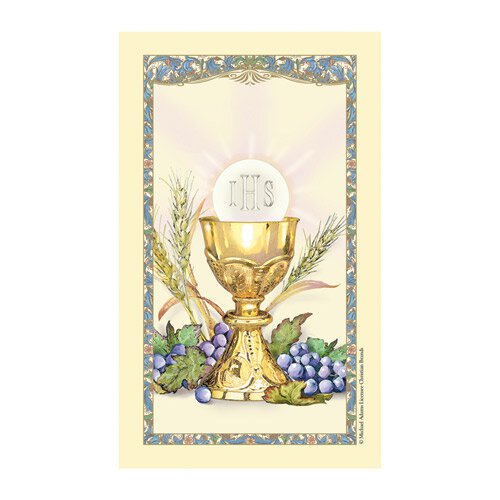 First Communion Laminated Holy Card - 25/pk