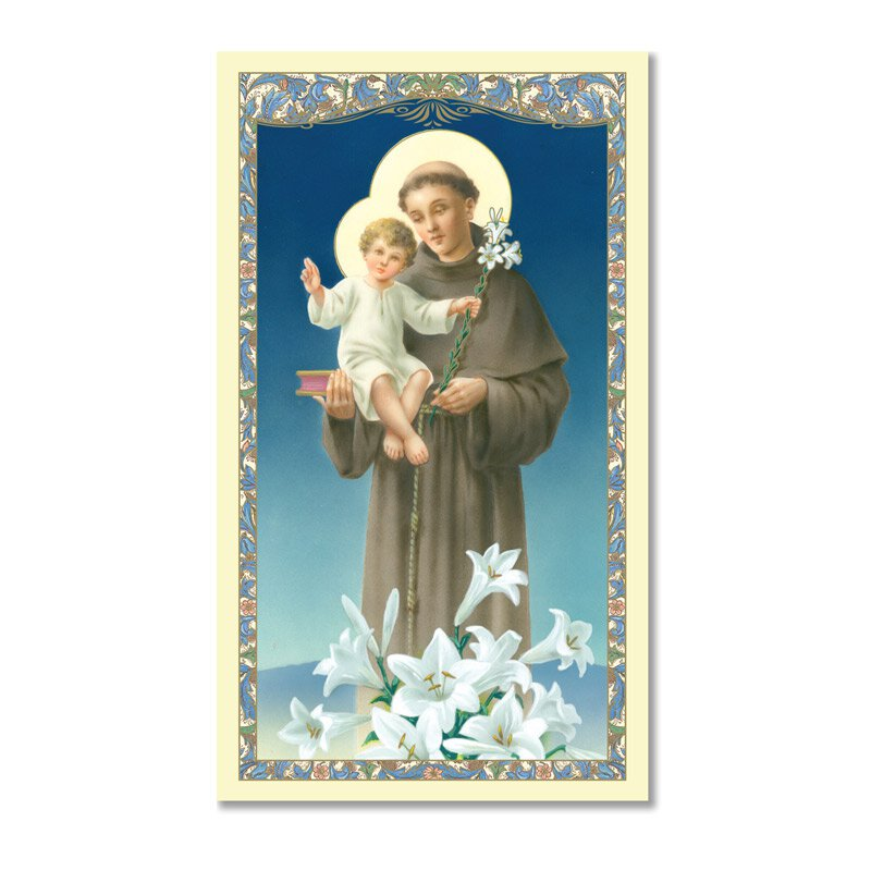 St. Anthony Laminated Holy Card - 25/pk