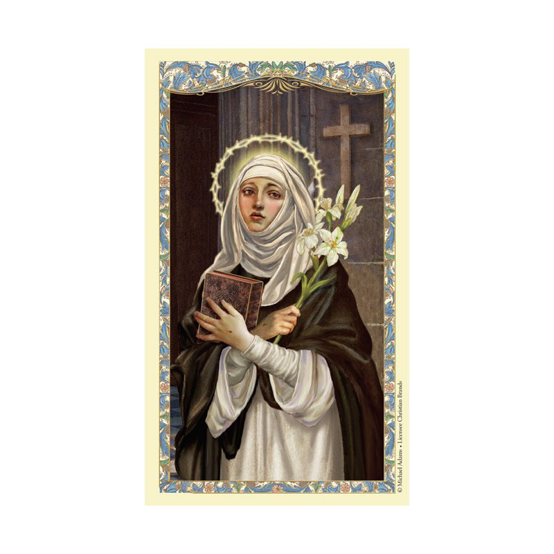 St. Catherine of Siena Laminated Holy Card - 25/pk