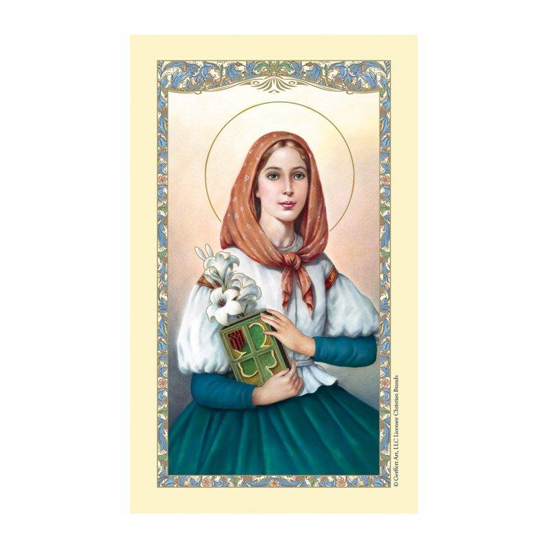 St. Dymphna Laminated Holy Card - 25/pk