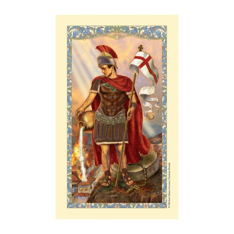 St. Florian Laminated Holy Card - 25/pk