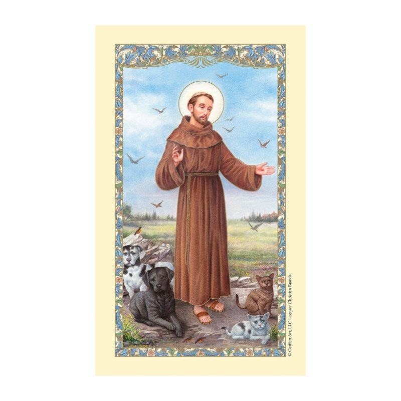 St. Francis of Assisi Laminated Holy Card - 25/pk