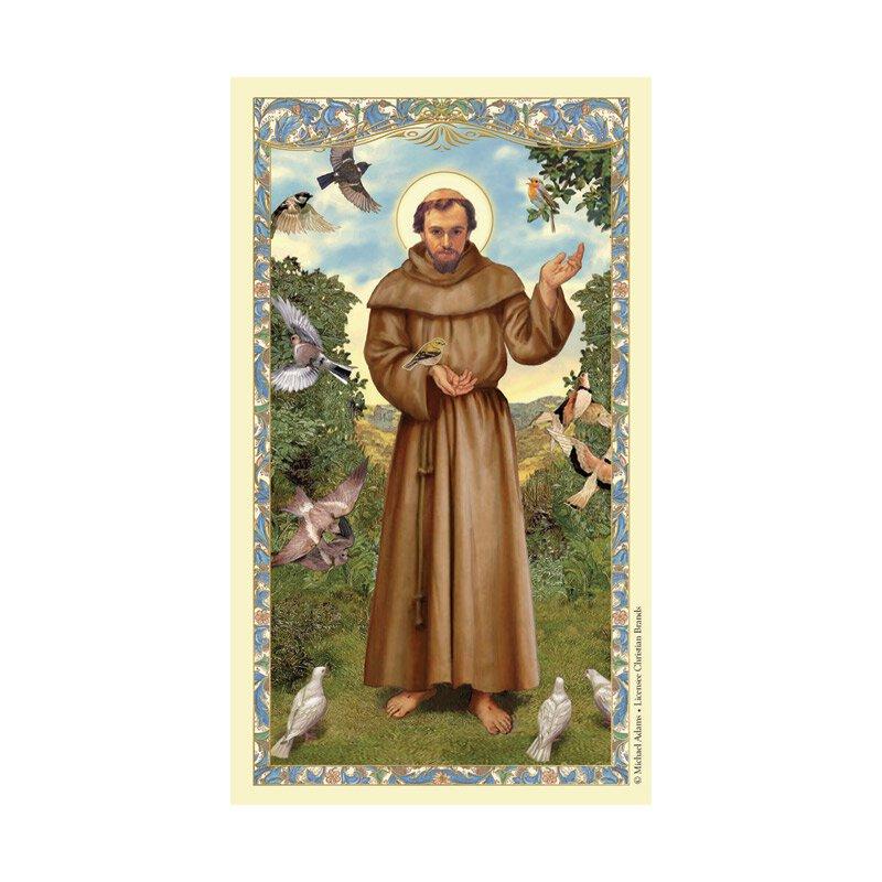 St. Francis of Assisi Laminated Holy Card - 25/pk
