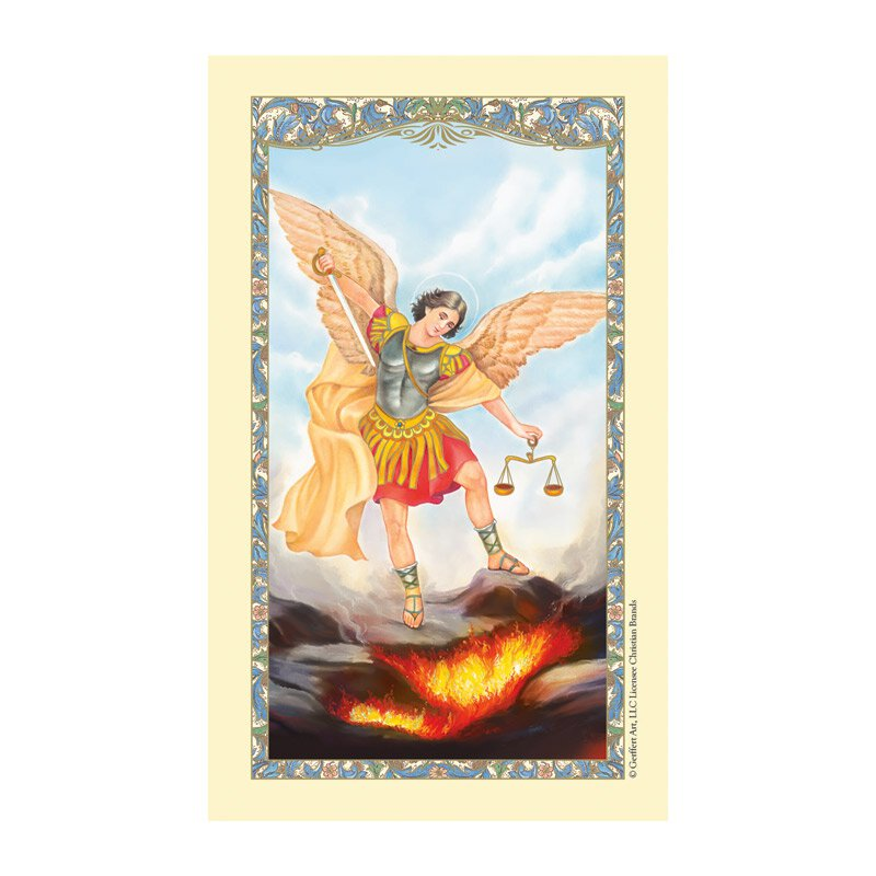 St. Michael Laminated Holy Card - 25/pk