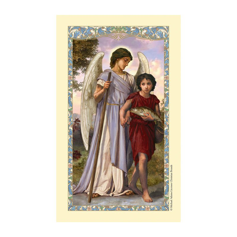 St. Raphael Laminated Holy Card - 25/pk