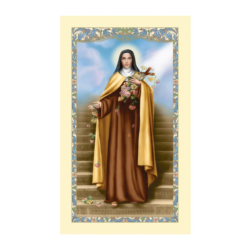 St. Therese Laminated Holy Card - 25/pk