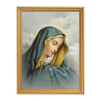 Sorrowful Madonna Framed Print