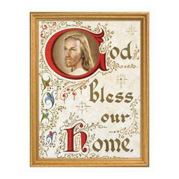 God Bless Our Home Framed Print