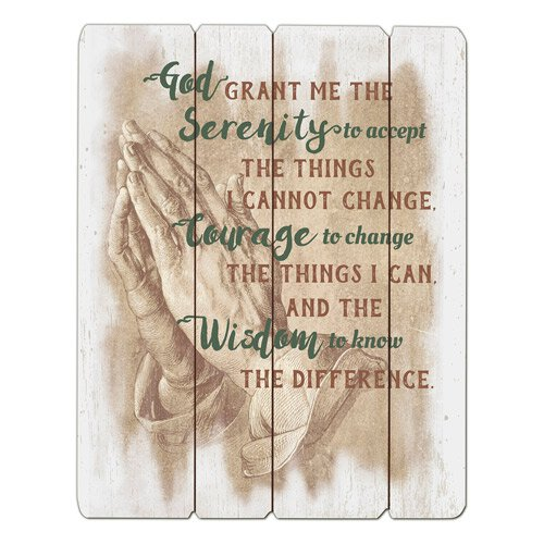 Serenity Prayer Pallet Sign