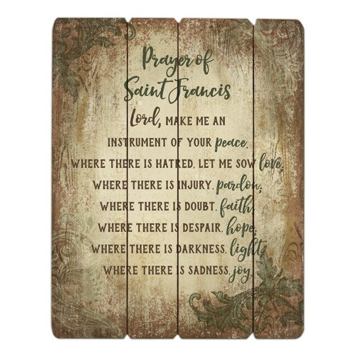 Prayer of St. Francis Pallet Sign