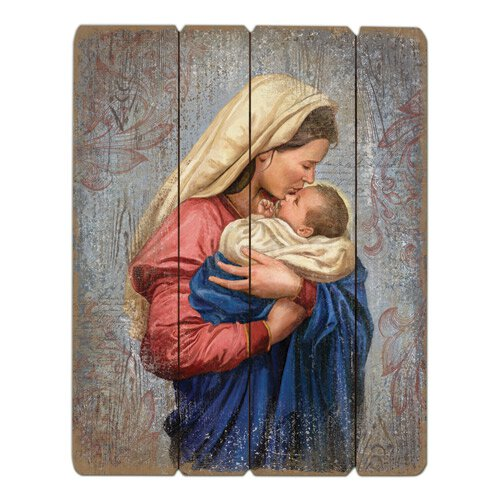 Madonna and Child Pallet Sign