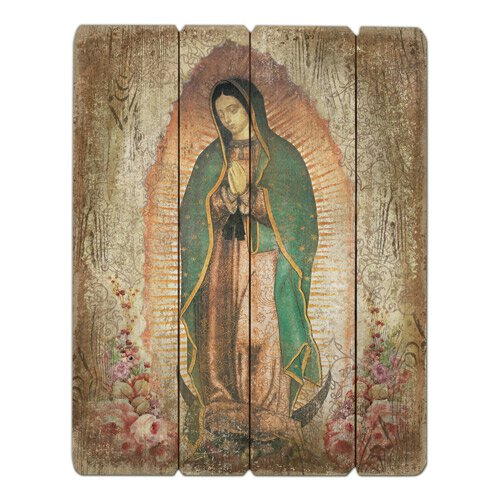 Our Lady of Guadalupe Pallet Sign