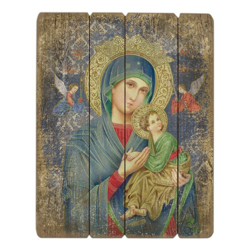 Our Lady of Perpetual Help Pallet Sign