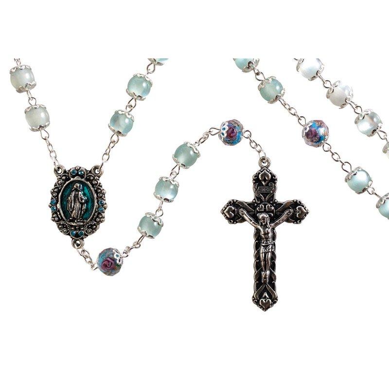 Paola Carola Miraculous Rosary - Aqua