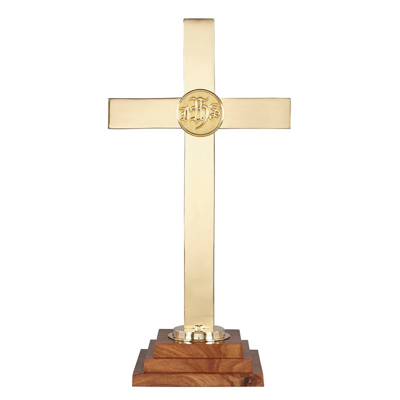 Chapel Altar Cross With Ihs Emblem
