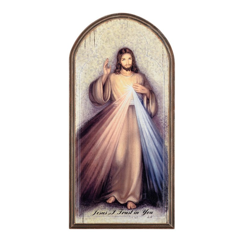 Marco Sevelli Arched Plaque - Divine Mercy