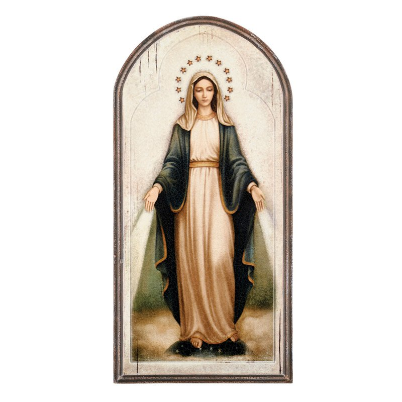 Marco Sevelli Arched Plaque - Our Lady of Grace