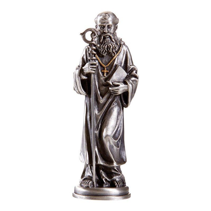 Prayer Patron Saint Statue - St. Benedict