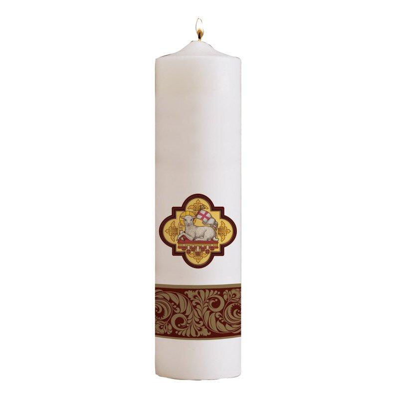Agnus Dei Pillar Christ Candle