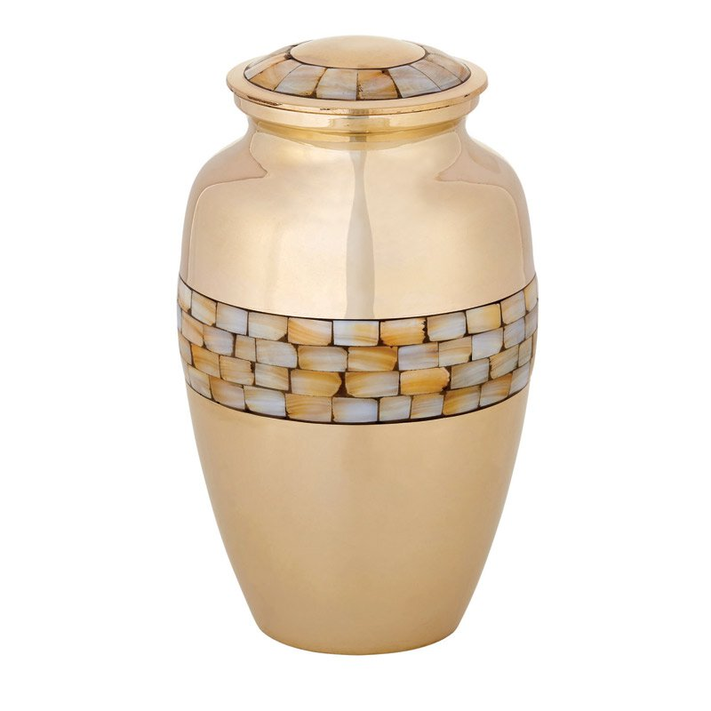 Brass Memorial Urn
