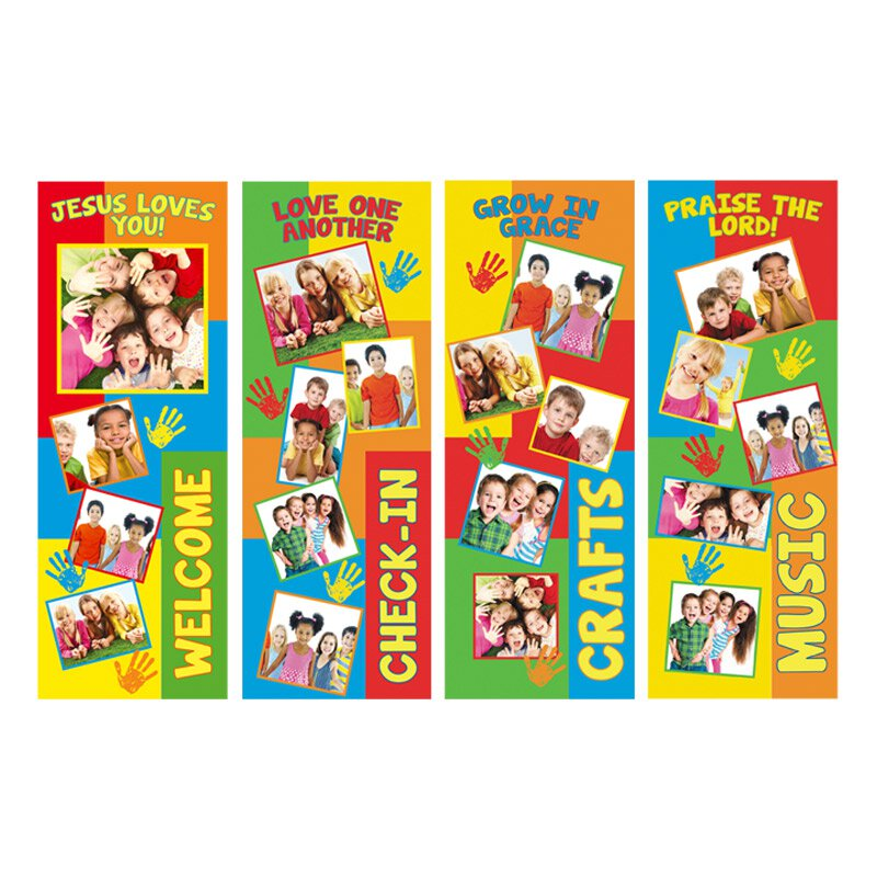 Children's Series X-Stand Banners - Set of 4