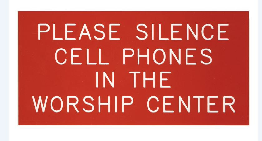 Cell Phone Sign