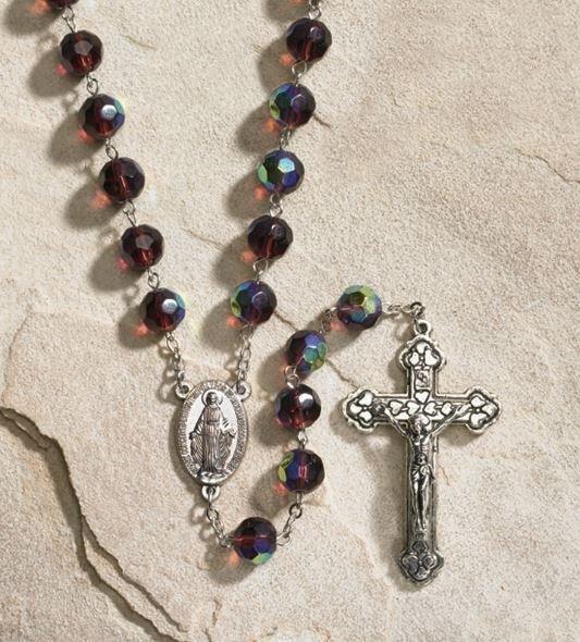 Glass Birthstone Rosary