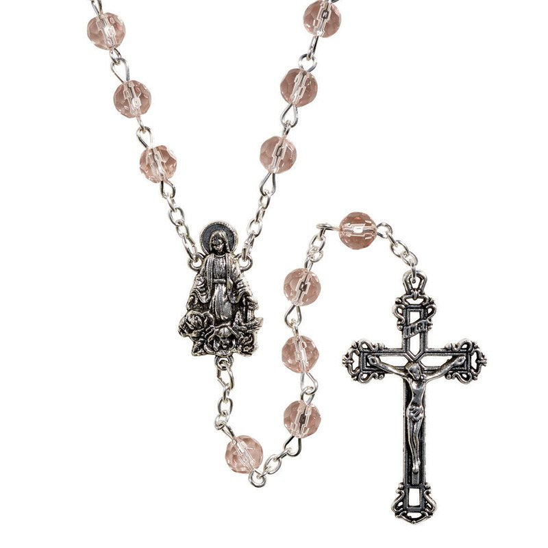 Creed® AB Birthstone Rosary - October (Rose)