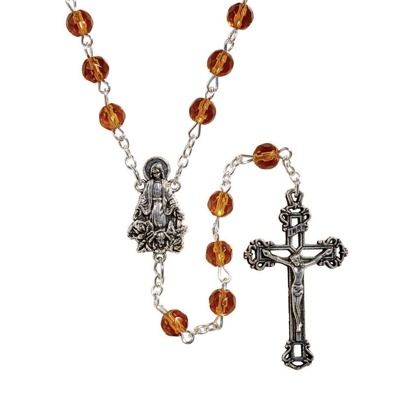 Creed® AB Birthstone Rosary - November (Topaz)