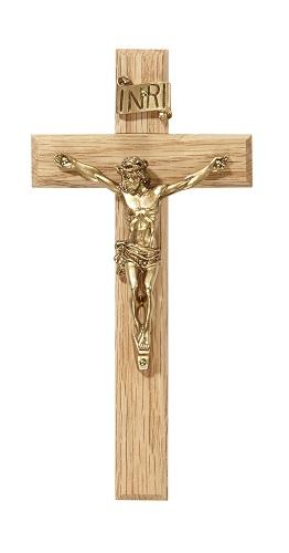 """6.25"""" Oak Crucifix"""