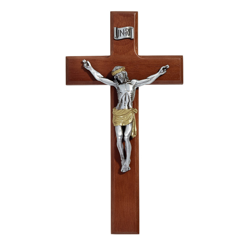 James Brennan™ Maple Hardwood Two-Tone Crucifix
