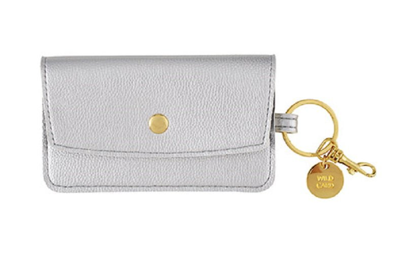 Silver Credit Card, Key Chain Pouch. Wild Card