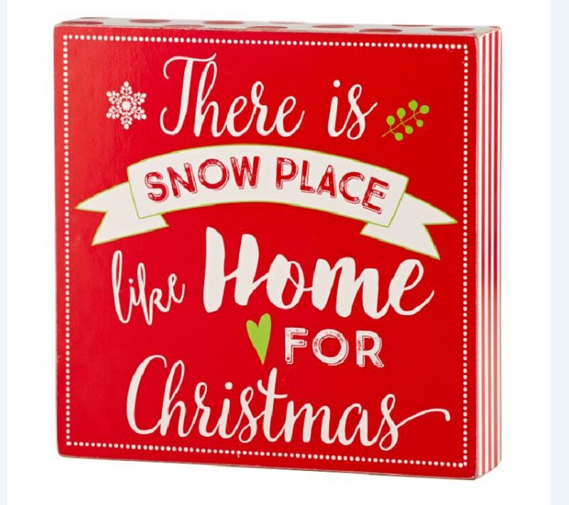 Holiday Box Plaques - Snow Place