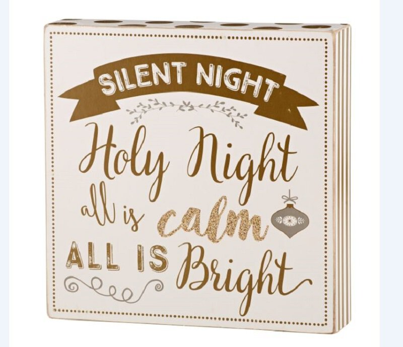 Holiday Box Plaques - Silent Night