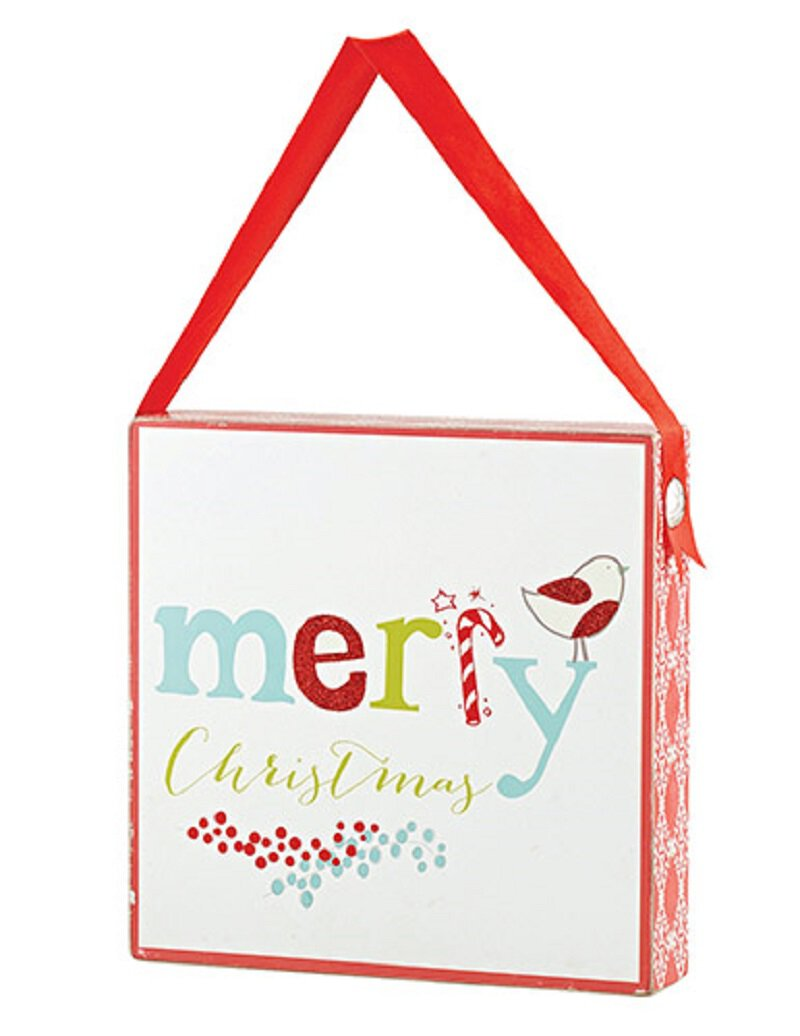Merry Christmas Box Plaque