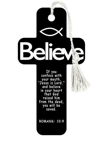 Cross Bookmarks Believe