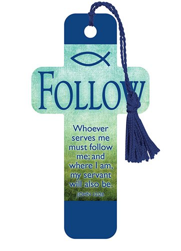 Cross Bookmarks Follow (Green)