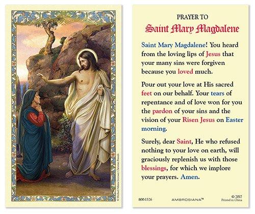 Saint Mary Magdalene Laminated Holy Card