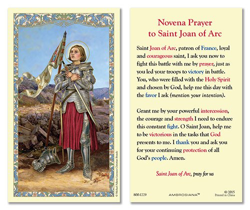 Saint Joan of Arc Laminated Holy Card