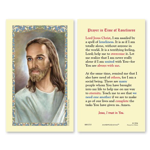 Head of Christ (Prayer in Time of Loneliness) Holy Card