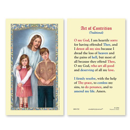 Christ with Teens (An Act of Contrition) Holy Card