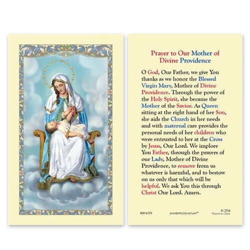 Our Lady of Divine Providence (Prayer to Our Mother of Divine Providence) Holy Card