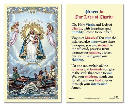 Caridad del Cobre Laminated Holy Card