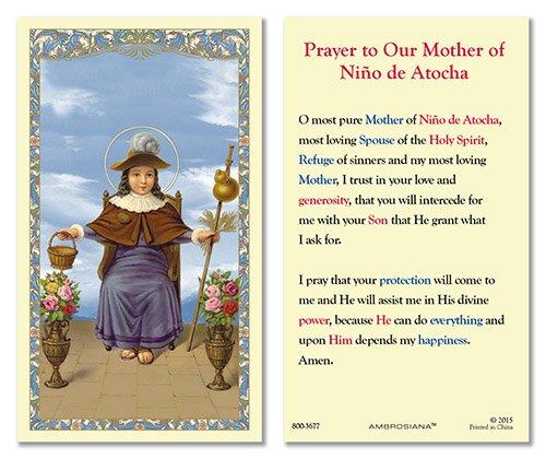 Nino de Atocha Laminated Holy Card