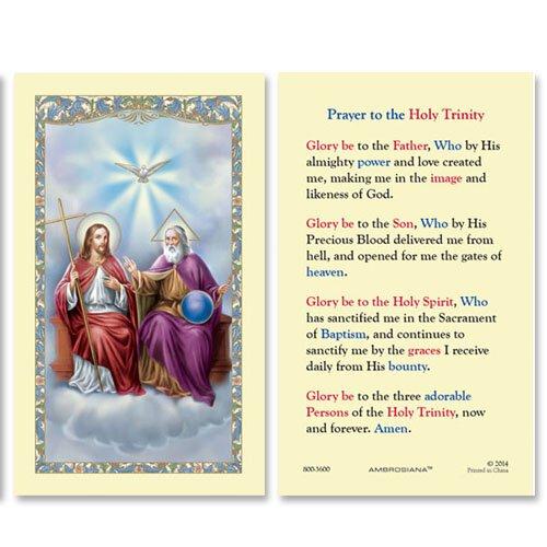 Holy Trinity (Prayer to the Holy Trinity) Holy Card