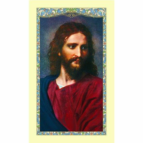 Head of Christ Laminated Holy Card - 25/pk