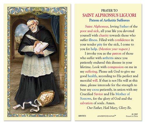 Saint Alphonsus Laminated Holy Card