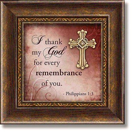 Philippians 1:3 Framed Tabletop Christian Verse